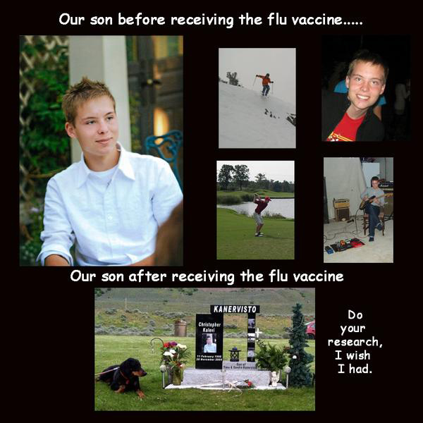 Flu VAccine killed son